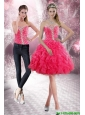 2015 Pretty and Detachable Sweetheart Prom Dress with Beading and Ruffles