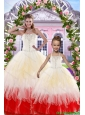 2015 Ball Gown Multi-color Princesita Dress with Beading and Ruffles