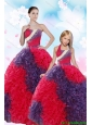 2015 Multi-color Ball Gown Beading and Ruffles Princesita Dress