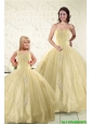 Latest Appliques Princesita Dress in Light Yellow For 2015
