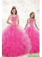 2015 Pretty Straps Hot Pink Princesita Dresses with Beading