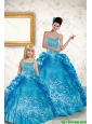 Elegant Sweetheart Embroidery Princesita Dress in Blue