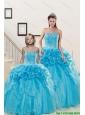 Fashionable Sweetheart Beading Princesita Dress in Aqua Blue