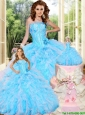 New Arrival Baby Blue Princesita With Quinceanera Dresses with Appliques and Ruffles