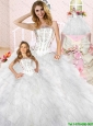 New Arrival White Princesita Dress with Appliques and Ruffles For 2015