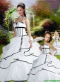 Romantic Pick-ups White Princesita Dress For 2015 Quinceanera Party