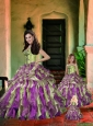 Fashionable Sweetheart Appliques and Ruffles Princesita Dress in Multi-color
