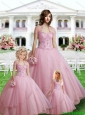 Unique Sweetheart Appliques Light Pink Princesita Dress
