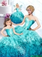 2015 Pretty Good Blue Dresses Princesita Dress with Beading and Ruffles