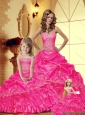 Discount Sweetheart Hot Pink 2015 Princesita Dresses with Appliques
