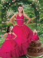 The Super Hot Ruching and Beading Princesita Dress in Hot Pink