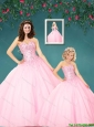 2015 The Super Hot Pink Princesita Dresses with Beading