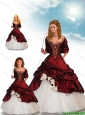 Beautiful Ball Gown Wine Red Princesita Dresses with Beading