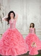 Charming Spaghetti Straps Appliques Princesita Dresses in Watermelon