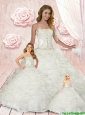 Luxurious Strapless White Princesita Dresses with Appliques and Ruffles
