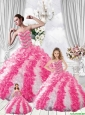 Popular Pufffy Sweetheart Beading Multi-color Dresses for Princesita