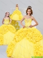 Popular Sweetheart Yellow Dresses for Princesita with Beading