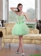 2015 Beautiful Beading and Ruffles Prom Dress in Apple Green