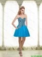 2015 Popular A Line Sweetheart Prom Dress with Beading