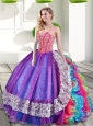Beautiful Sweetheart Beading and Ruffles 2015 Quinceanera Dresses in Multi Color