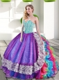 Elegant Sweetheart Multi Color Quinceanera Dresses with Beading and Ruffles