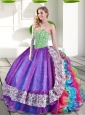 Sweetheart Beading and Ruffles 2015 New Style Quinceanera Dresses in Multi Color