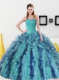 Discount Beading and Ruffles Sweetheart Sweet 16 Dress for 2015