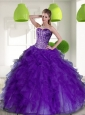 New Style Beading and Ruffles Sweetheart 2015 Quinceanera Dresses in Purple