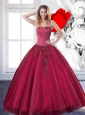 Sweetheart 2015 Affordable Quinceanera Dresses with Beading and Appliques