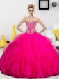 Wonderful Beading and Ruffles Sweetheart 2015 Quinceanera Dresses