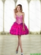 2015 Wonderful Sweetheart Multi Color Prom Dress with Beading and Ruffles