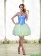 Romantic 2015 Beading and Ruffles Short Prom Dress with Sweetheart