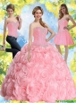 2015 Most Popular Beading Baby Pink 15 Quinceanera Dresses
