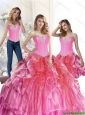 2015 Popular Multi Color 15 Quinceanera Dresses  with Beading and Ruffles