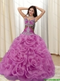 Elegant Appliques and Rolling Flowers Multi Color 15 Quinceanera Dresses