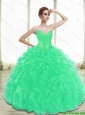 Perfect Appliques Quinceanera Dresses in Turquoise for 2015