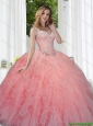 Perfect Watermelon Quinceanera Dresses with Beading and Ruffles