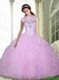 Discount Beading and Ruffles Sweetheart Sweet 16 Dresses for 2015