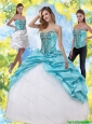 Pretty Quinceanera Dresses with Embroidery and Pick Ups