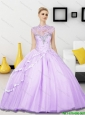 Puffy Beading Sweetheart Tulle Quinceanera Dresses for 2015