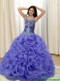 Unique Appliques and Rolling Flowers Multi Color Quinceanera Dresses for 2015