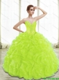 Unique Spring Green Lime Green Quinceanera Dresses with Appliques