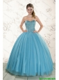 Brand New Style Ball Gown Beaded Sweet 16 Dress in Baby Blue