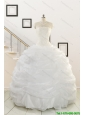 Custom Made White Beading Quinceanera Dresses for 2015