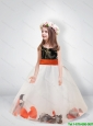 New Style Gown Scoop Belt Camo Little Girl Pageant Dresses