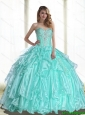 2015 Summer New Style Sweetheart Quinceanera Dresses with Beading and Appliques