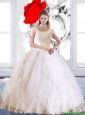 Elegant 2015 Summer Laceed and Beaded Quinceanera Dress with High Neck