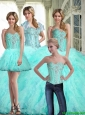 Luxurious Ball Gown Sweetheart Quinceanera Dresses with Ruffles and Beading For 2015 Fall