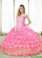 New Style Beaded Quinceanera Dresses with Appliques For 2015 Fall