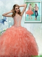 2015 Fall Pretty Sweetheart Quinceanera Dresses with Beading and Ruffles
